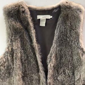 INTERMIX Jackets & Coats - Gray rabbit fur vest